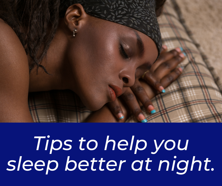 01- Tips to help you sleep better at night